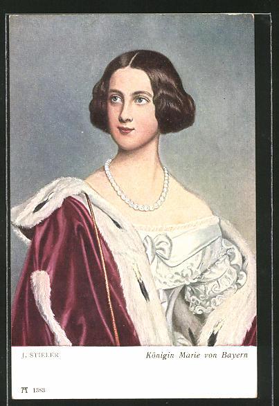 Künstler-AK Königin Marie von Bayern