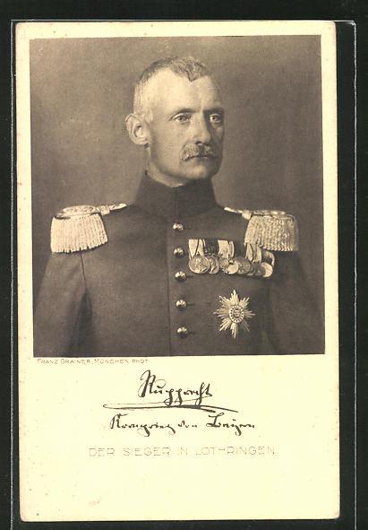 AK Kronprinz Rupprecht von Bayern mit Ordensspange