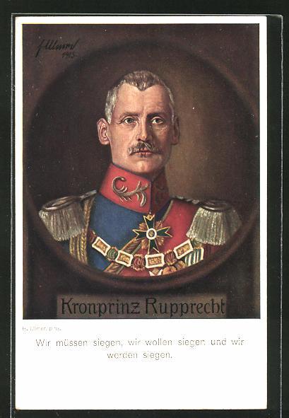 Künstler-AK Kronprinz Rupprecht von Bayern,
