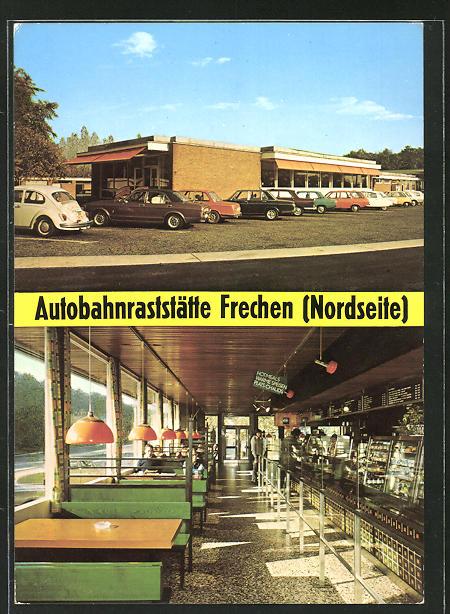 AK Frechen, Autobahnraststätte Frechen a. d. Strecke Köln-Aachen