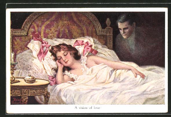 Künstler-AK Ruab Gnischaf: A vision of love, Traum