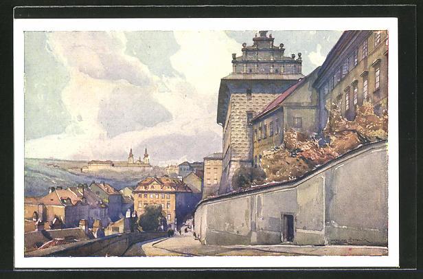 Künstler-AK Jaroslav Setelik: Strahov, die Abtei
