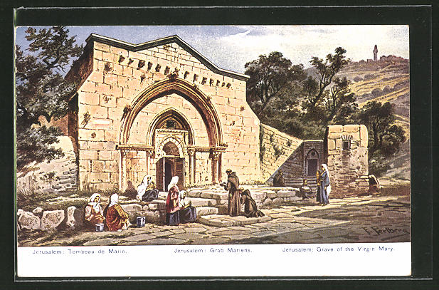 Künstler-AK Friedrich Perlberg: Jerusalem, Grab Mariens