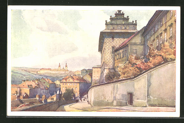 Künstler-AK Jaroslav Setelik: Prague, Strahov