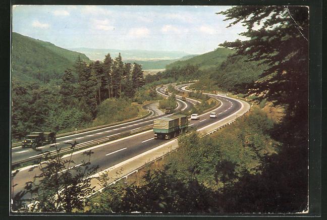 AK Blick auf die Spessart-Autobahn