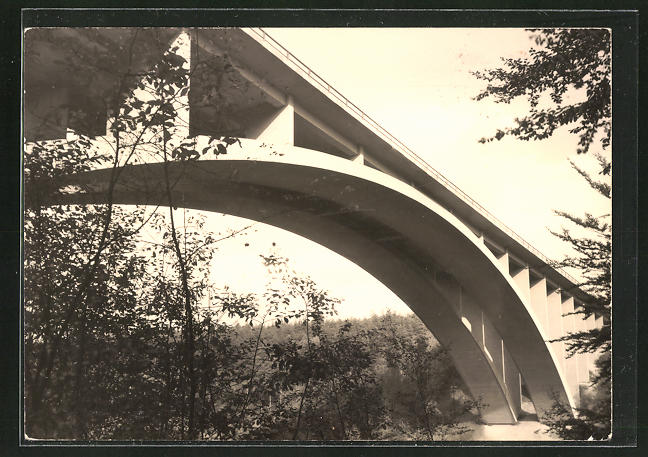 AK Teufelstalbrücke an der Autobahn Dresden-Eisenach