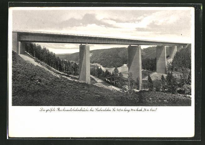 AK die grösste Reichsautobahnbrücke bei Siebenlehn