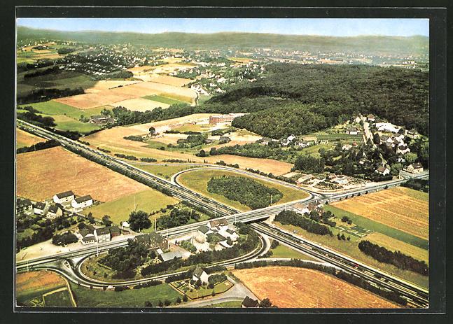 AK Schwerte / Ruhr, Blick auf die Autobahn Richtung Katholische Akademie Schwerte