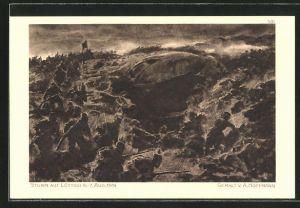 Künstler-AK Anton Hoffmann - München: Sturm auf Lüttich 1914