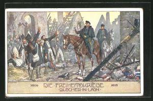Künstler-AK Ernst Kutzer: Die Freiheitskriege, Blücher in Laon