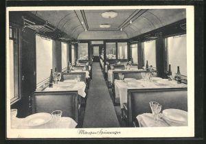 AK Mitropa-Speisewagen einer Eisenbahn
