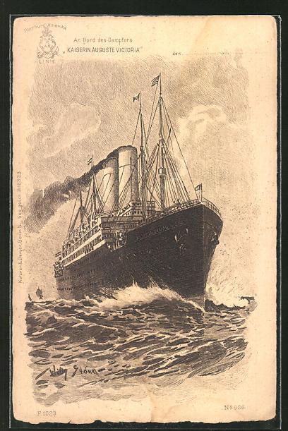 Künstler-AK Willy Stoewer: Passagierschiff