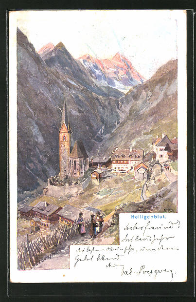 Künstler-AK Edward Theodore Compton: Ortsansicht von Heiligenblut