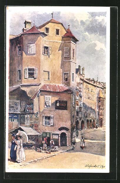 Künstler-AK E.F. Hofecker: Innsbruck, Die Ottoburg