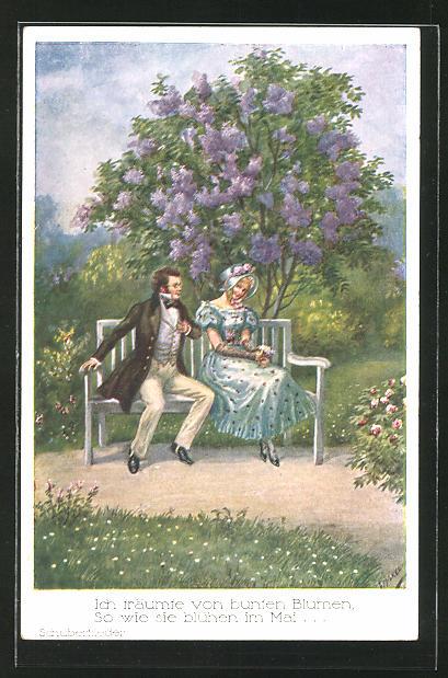 Künstler-AK Friedrich Kaskeline: Franz Schubert,