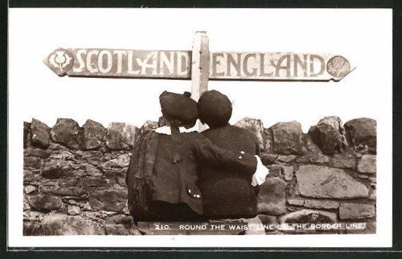 AK Round the waist line on the border line Scotland - England