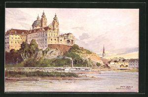 Künstler-AK Fritz Lach: Stift Melk an der Donau