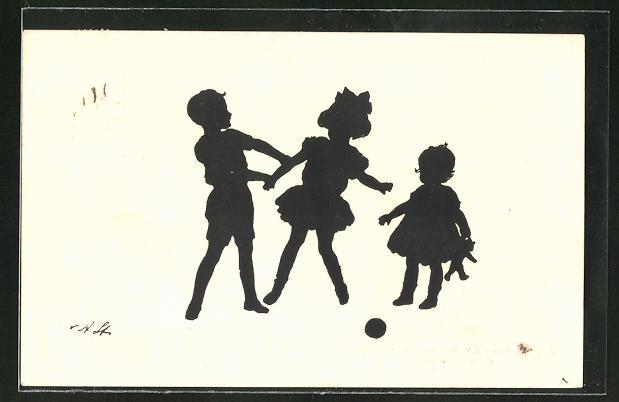 Künstler-AK Ov. Alt-Stutterheim: Spielende Kinder