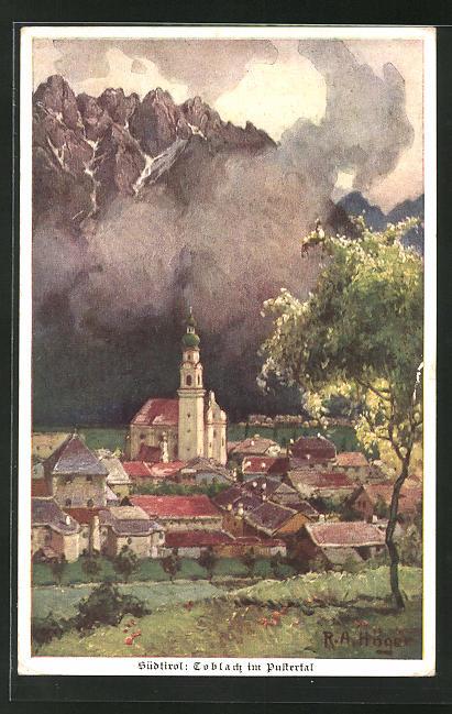 Künstler-AK Rudolf Alfred Höger: Toblach i/Pustertal, Südtirol