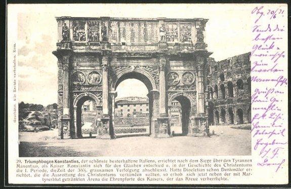 AK Roma, Arco di Costantino, Triumphbogen