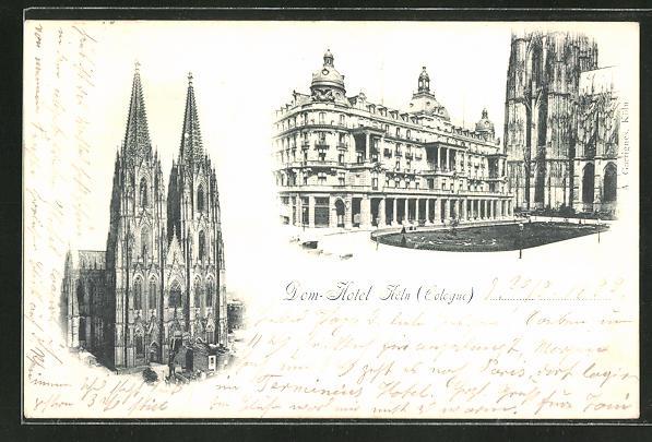 AK Köln, Dom und Dom-Hotel