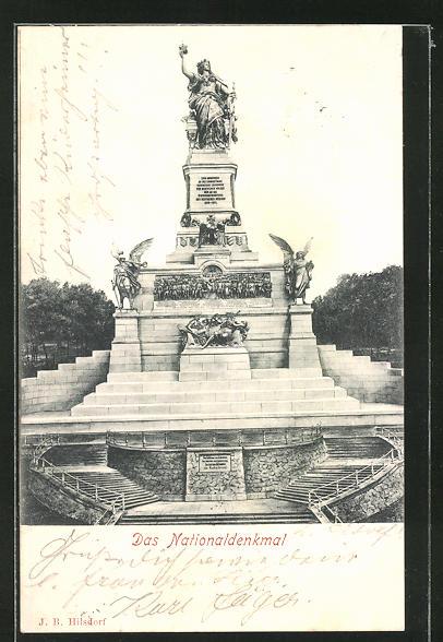 AK Ansicht vom Nationaldenkmal auf dem Niederwald