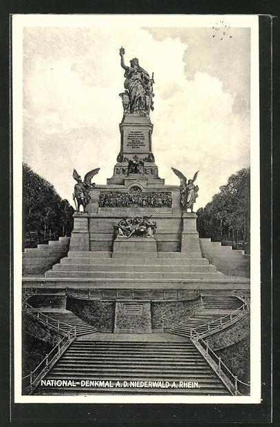 AK National-Denkmal auf dem Niederwald am Rhein