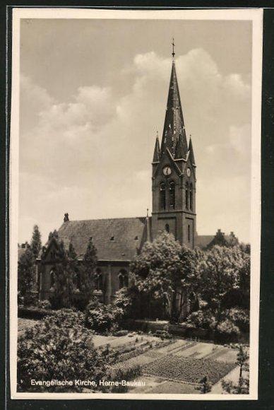 AK Herne-Baukau, Ansicht der evangelischen Kirche