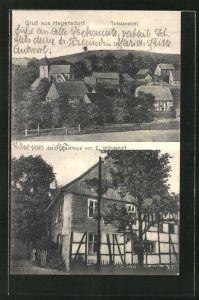 AK Hegensdorf, Blick auf das Gasthaus von E. Wördehoff, Totalansicht