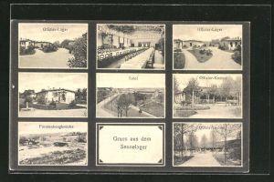 AK Sennelager, Offizier-Kasino, Fürstenbergbrücke, Offizier-Lager