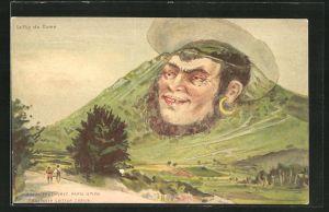 Künstler-AK F. Killinger Nr. 130: Le Puy de Dome, Berg mit Gesicht / Berggesichter