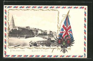 Präge-AK Falmouth, Grove Place, Wappen