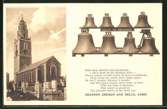 AK Cork, Shandon Church and Bells