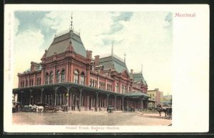 AK Montreal, Grand Trunk Railway Station, Bahnhof