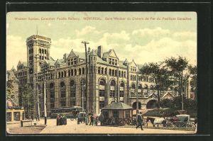 AK Montreal, Windsor Station, Canadian Pacific Railway, Bahnhof