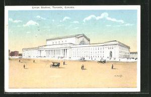 AK Toronto, Union Station, Bahnhof