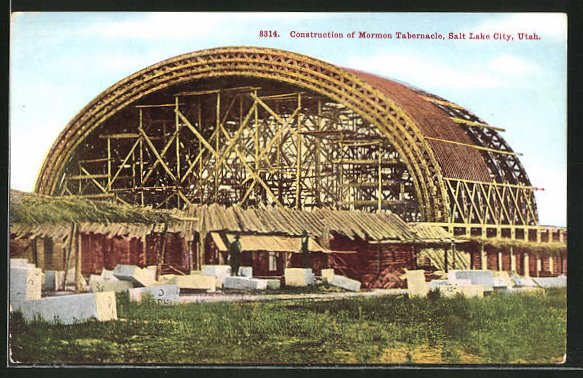 AK Salt Lake City, UT, Construction of Mormon Tabernacle 0
