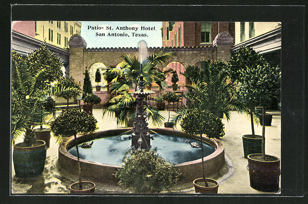AK San Antonio, TX, Patio- St. Anthony Hotel
