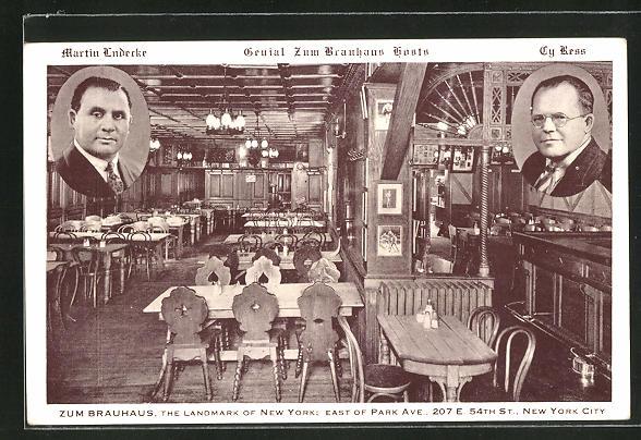 AK New York, NY, Zum Brauhaus, The Landmark of New York, East of Park Ave. 0