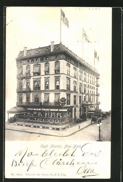 AK New York, NY, Café Martin 0
