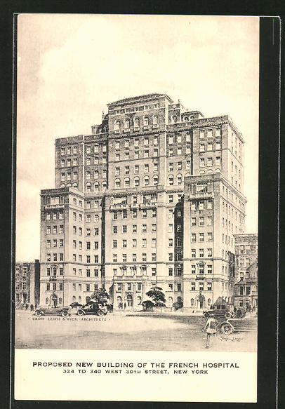 AK New York, NY, Proposed New Building of the French Hospital, 324 to 340 West 30th Street 0