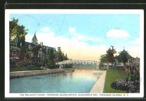 AK Thousand Islands, NY, the Wellesly House, Alexandria Bay