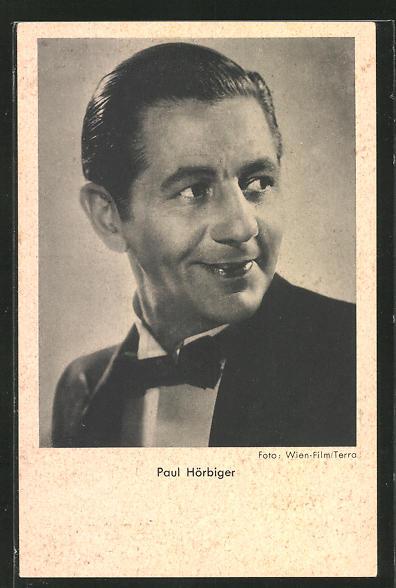 AK Schauspieler Paul Hörbiger zur Seite blickend