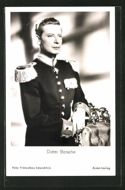 AK Schauspieler Dieter Borsche im Kostüm des Films