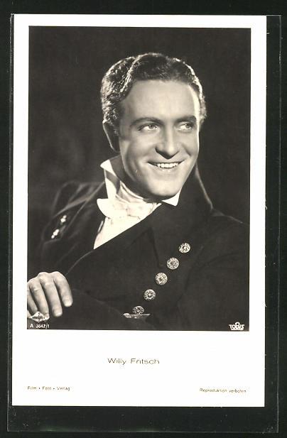 AK Schauspieler Willy Fritsch im Kostüm seiner Filmrolle