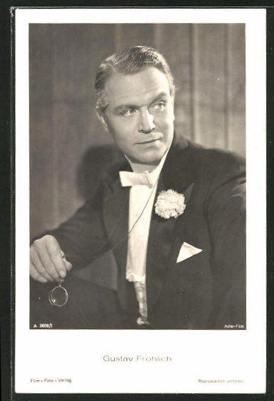 AK Schauspieler Gustav Fröhlich im Kostüm seiner Filmrolle