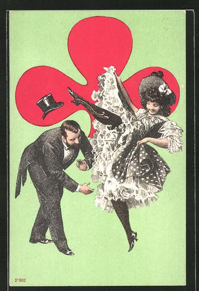 AK Tanzpaar in Aktion, Kartenspiel