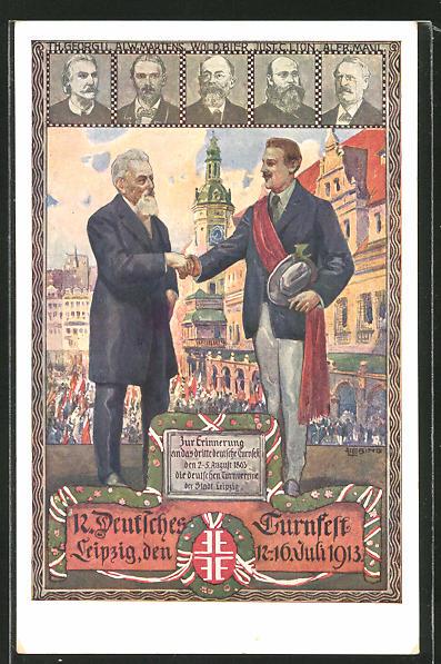 AK Leipzig, 12. Deutsches Turnfest 1913, Turnvater Jahn