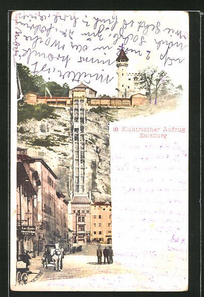 AK Salzburg, elektrischer Aufzug