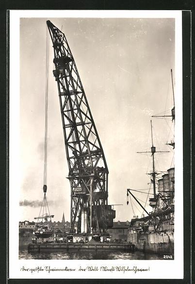 AK Wilhelmshaven, der grösste Schwimmkran der Welt in der Werft